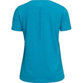 Peak Performance Track SS Tee Women Active Blue Melange
